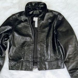 LIZ CLAIBORNE Lizsport Leather Jacket